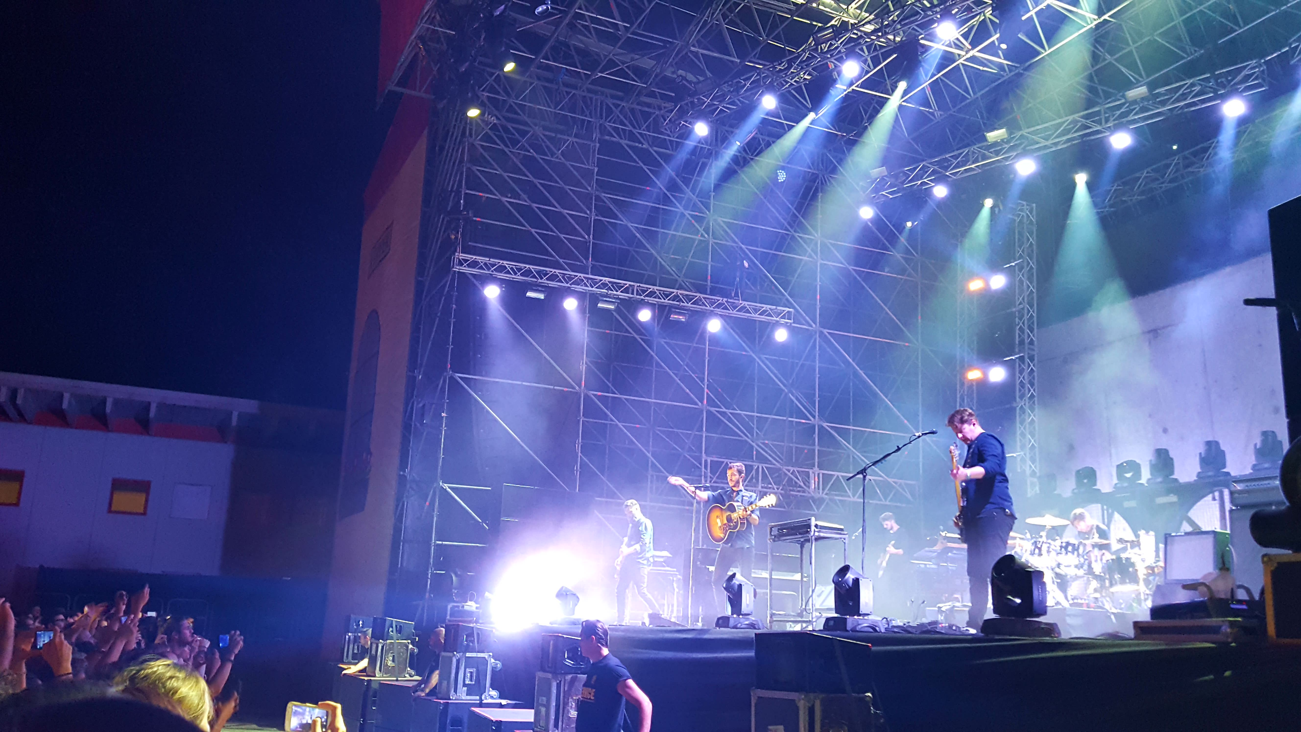 Editors, headliners del Clipper Main Stage (foto dell'autrice)