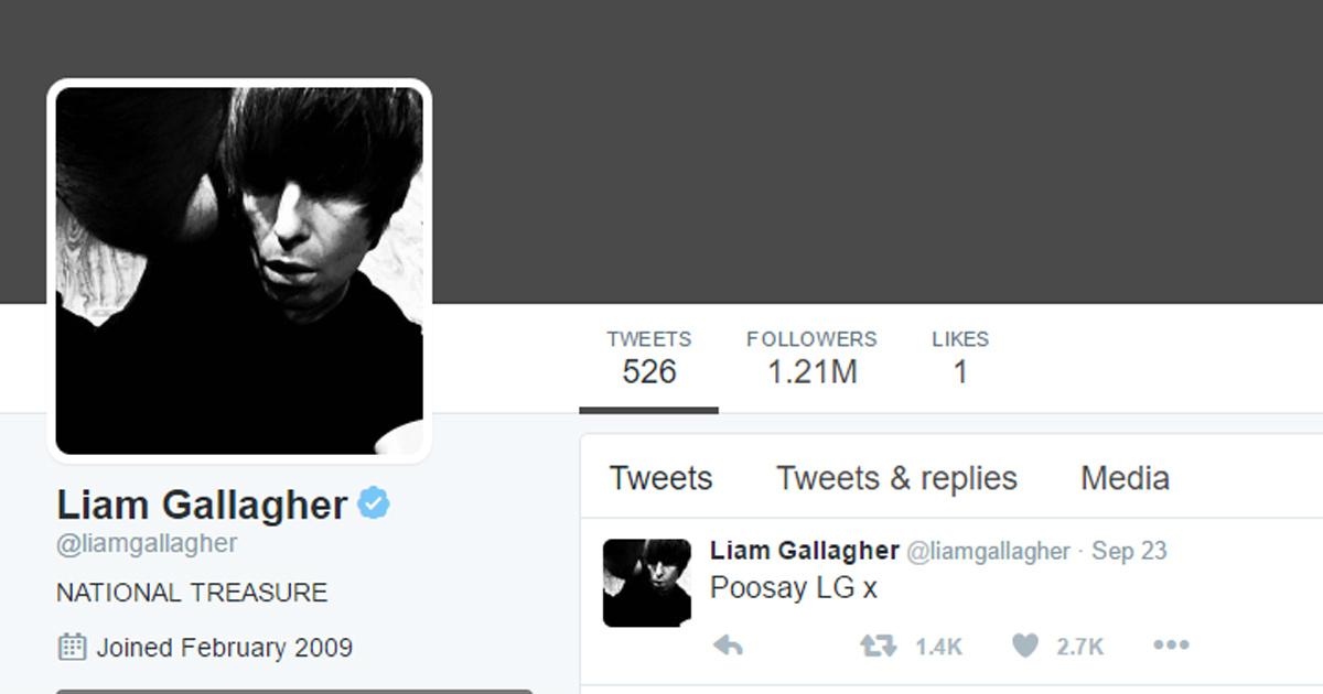 Quale di questi appellativi NON è stato (finora) twittato da Liam riferendosi a Noel?