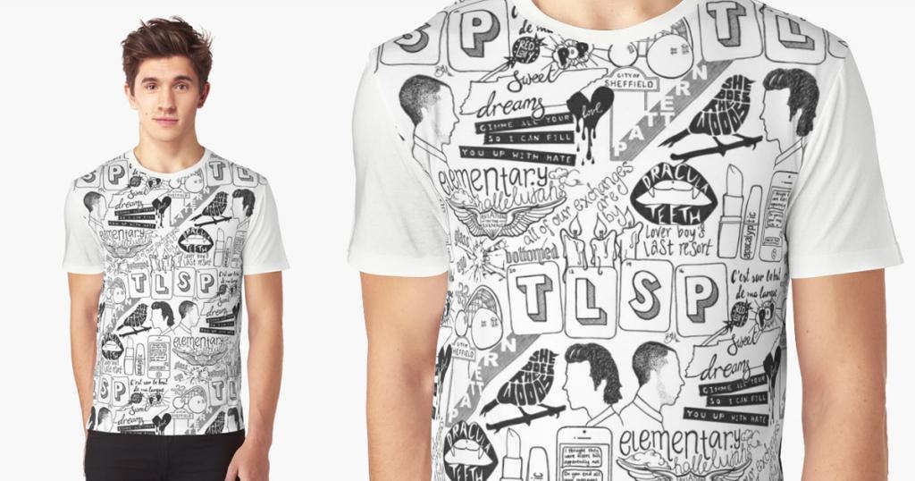 comics-black-white-t-shirt